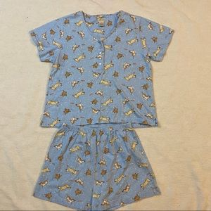 Nordstrom intimates puppy short pajama set M